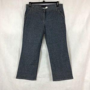 J.Crew Jeans Size 12 Cropped Wide Leg